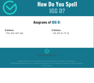 Correct spelling for IgG D