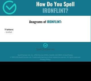 Correct spelling for Ironflint