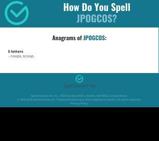 Correct spelling for JPOGCOS