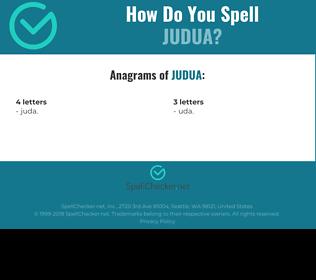 Correct spelling for JUDUA