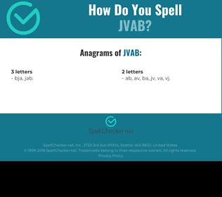 Correct spelling for JVAB