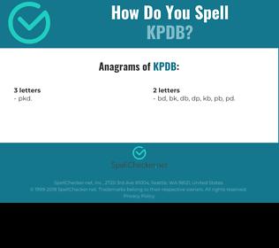 Correct spelling for KPDB