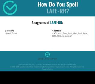 Correct spelling for LAFE-RR