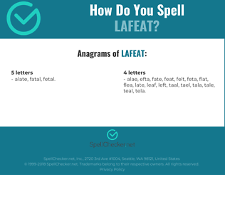 Correct spelling for LAFEAT