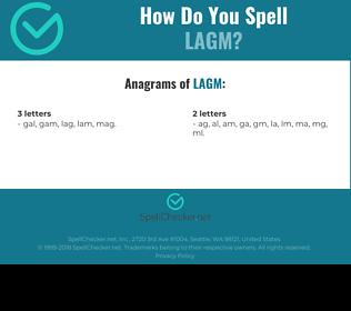 Correct spelling for LAGM