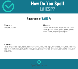 Correct spelling for LAIESP