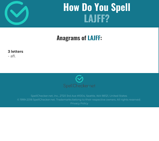 Correct spelling for LAJFF