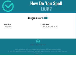 Correct spelling for LAJH