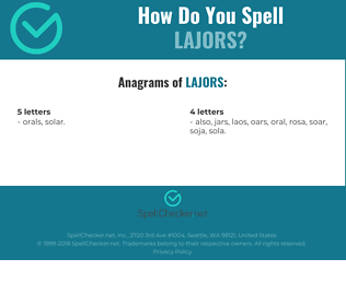 Correct spelling for LAJORS