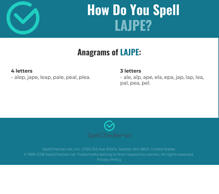 Correct spelling for LAJPE