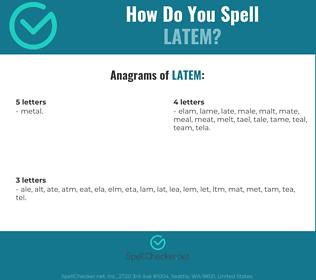 Correct spelling for LATEM