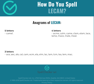 Correct spelling for LECAM