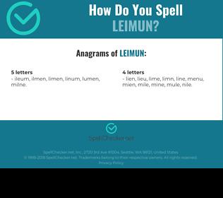 Correct spelling for LEIMUN
