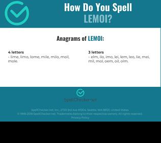 Correct spelling for LEMOI
