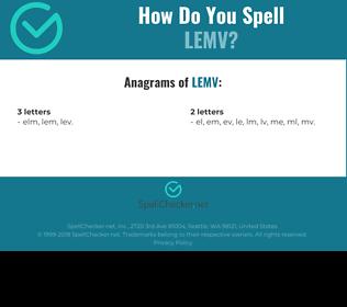 Correct spelling for LEMV