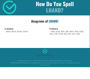 Correct spelling for LHAND