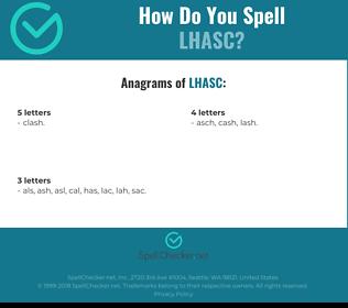 Correct spelling for LHASC