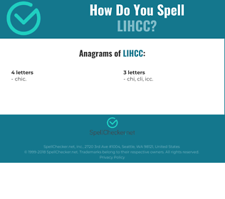 Correct spelling for LIHCC
