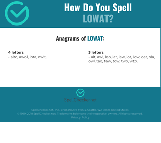 Correct spelling for LOWAT