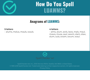 Correct spelling for LUAWMS