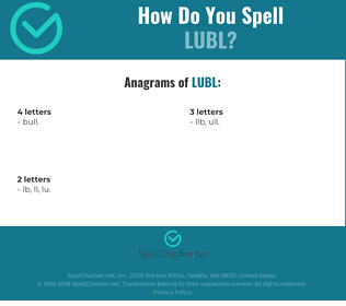 Correct spelling for LUBL