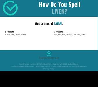 Correct spelling for LWEN