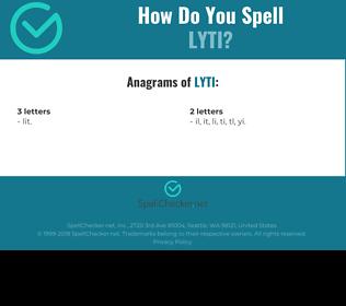 Correct spelling for LYTI