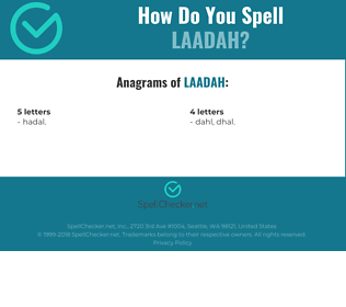 Correct spelling for Laadah