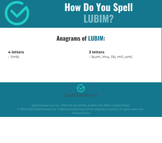 Correct spelling for Lubim