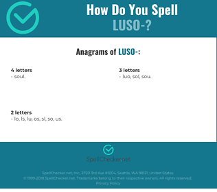 Correct spelling for Luso-