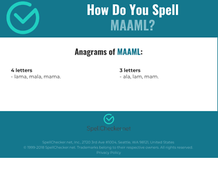 Correct spelling for MAAML