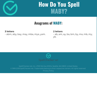 Correct spelling for MABY
