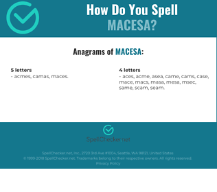 Correct spelling for MACESA