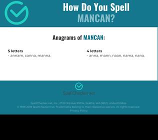 Correct spelling for MANCAN