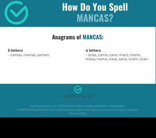 Correct spelling for MANCAS