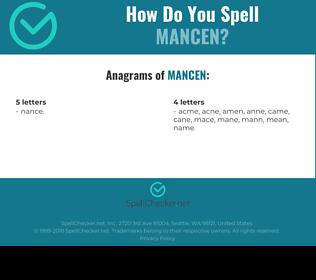 Correct spelling for MANCEN