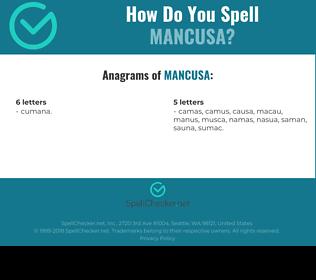 Correct spelling for MANCUSA