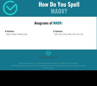 Correct spelling for MAOV
