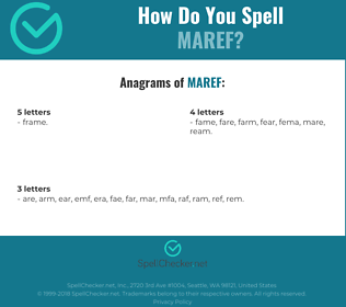 Correct spelling for MAREF