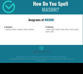 Correct spelling for MASHH