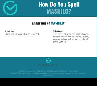 Correct spelling for MASHILO