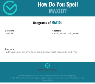 Correct spelling for MAXID