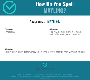 Correct spelling for MAYLING