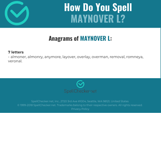 Correct spelling for MAYNOVER L