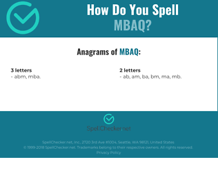 Correct spelling for MBAQ