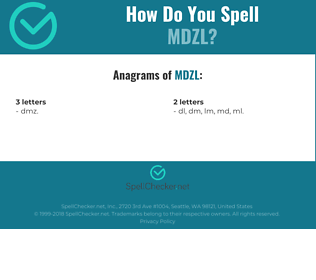 Correct spelling for MDZL