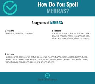 Correct spelling for MEHRAS