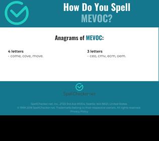 Correct spelling for MEVOC