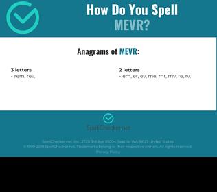 Correct spelling for MEVR