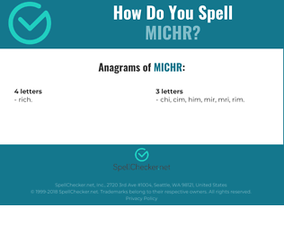 Correct spelling for MICHR